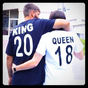 King and queen shirts!